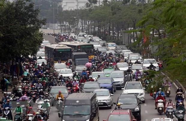 Các phương tiện nêm kín mặt đường vào các giờ cao điểm. (Ảnh minh họa: Huy Hùng/TTXVN)