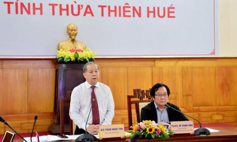 Hội nghị lấy ý kiến về xây dựng đô thị Thừa Thiên Huế thành đô thị có tính chất đặc thù về di sản hướng tới trở thành phố trực thuộc Trung ương