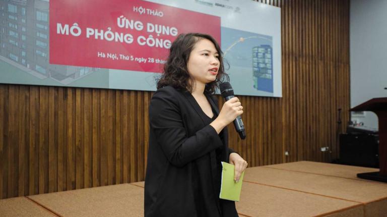 Bà Trần Thị Thu Phương – Sáng lập Mạng lưới Hiệu quả năng lượng Việt Nam (EEN-Vietnam) kiêm Tổng thư ký Hội mô phỏng Hiệu năng Công trình Xây dựng Việt Nam (IBPSA-Vietnam)