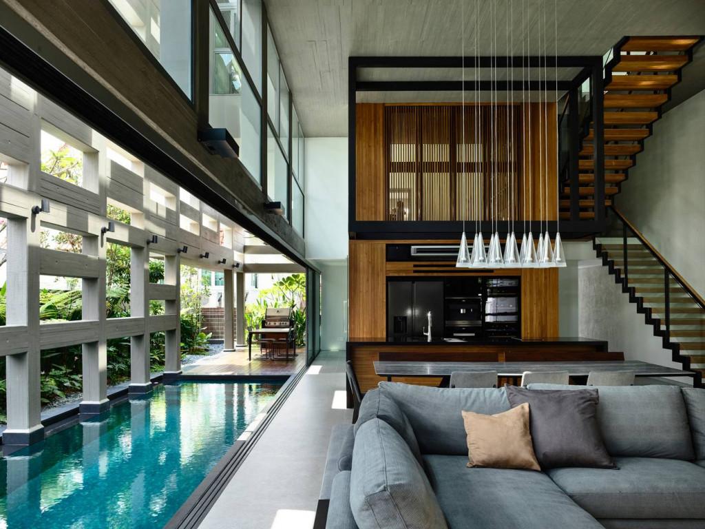 Một tầng lửng bổ sung thêm không gian sinh hoạt cho cả gia đình