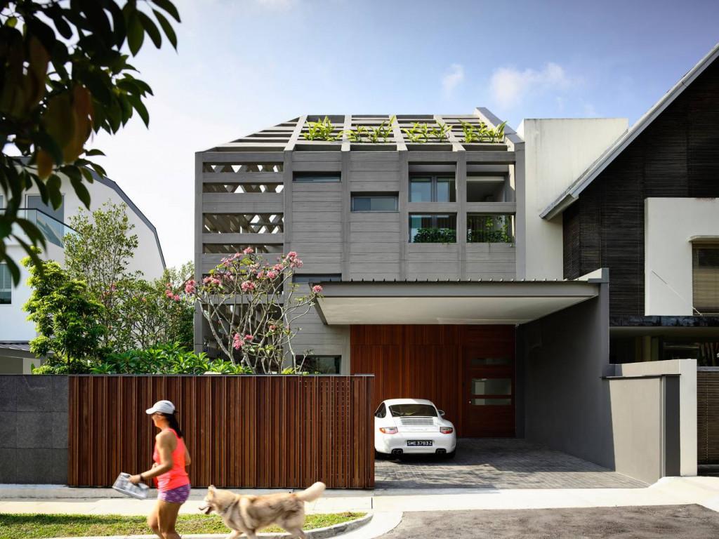 Concrete Light House là một biệt thự liền kề ở Singapore