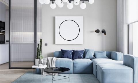 Chiêm ngưỡng vẻ đẹp thơ mộng của căn hộ trang trí bằng màu xanh và hồng pastel