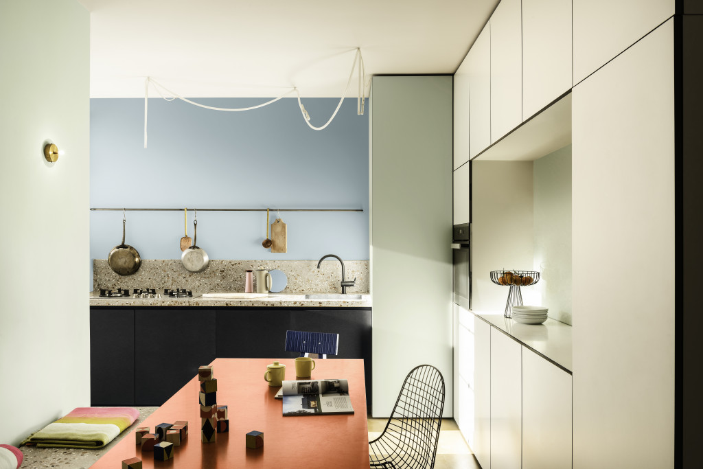 Bảng màu Năng Động giúp nhà bếp trở nên ấm cúng và đầy cảm hứng