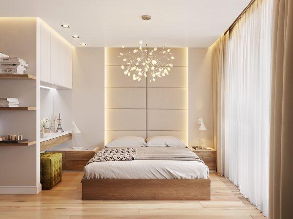 Đèn hình chùm hoa giúp ánh sáng phân tán đều khắp phòng