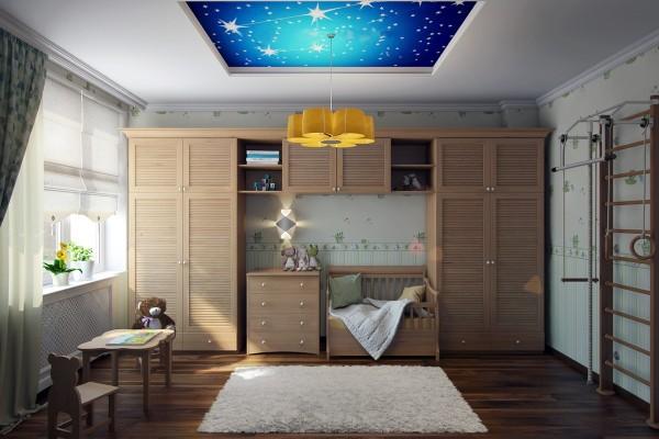 Cách chọn trần 3D mang đến một bầu trời đầy sao ngay trong phòng ngủ cho bé