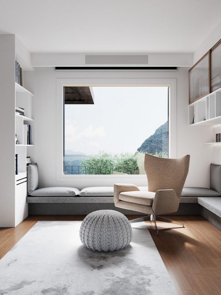 Màu sắc chủ đạo trong nhà là tông màu trung tính giản dị, phù hợp với sở thích của người chồng