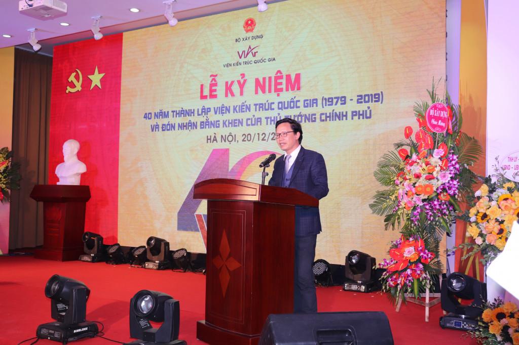 Thứ trưởng Nguyễn Đình Toàn – nguyên Viện trưởng Viện Kiến trúc Quốc gia