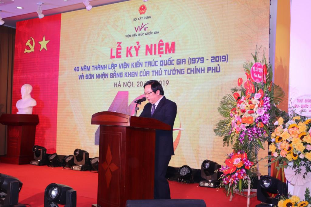 Viện trưởng Viện Kiến trúc Quốc gia Đỗ Thanh Tùng tổng kết hành trình 40 năm xây dựng trưởng thành của Viện