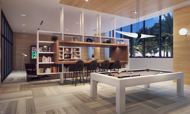 Thiết kế vách ngăn thông minh vừa chia cách giữa các khu vực, vừa dùng làm nơi nghỉ ngơi, thư giãn