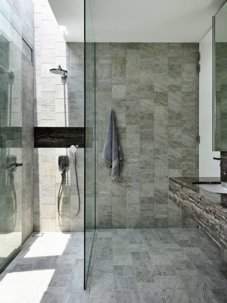 Gạch bê tông ốp cho tường và sàn nhà tắm