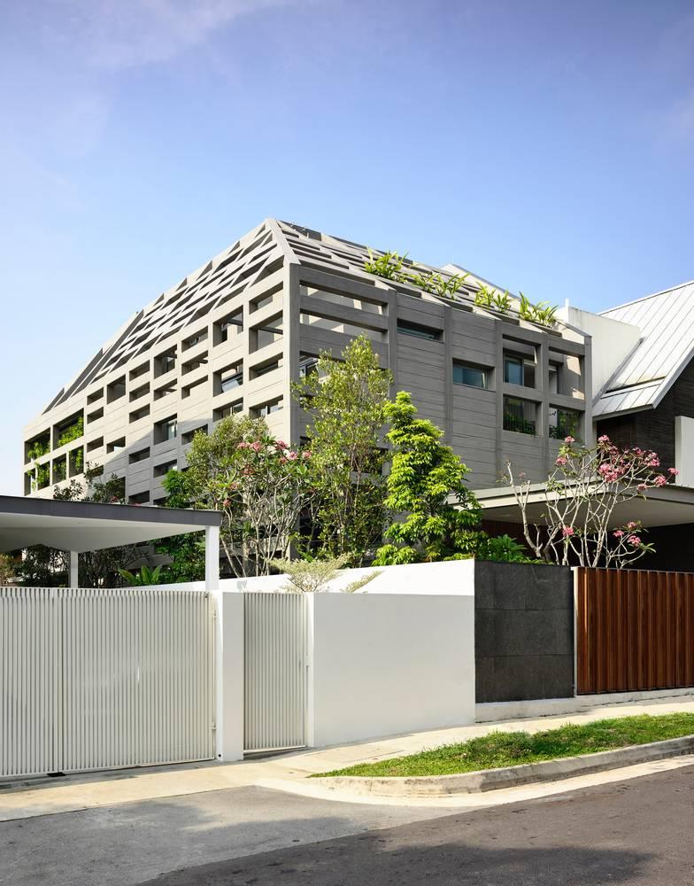 Lớp vỏ bê tông cực ấn tượng cửa Concrete Light House