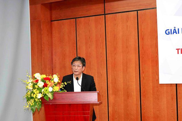 Hiệu trưởng trường Đại học Xây dựng Hà Nội Phạm Duy Hòa phát biểu tại Hội thảo