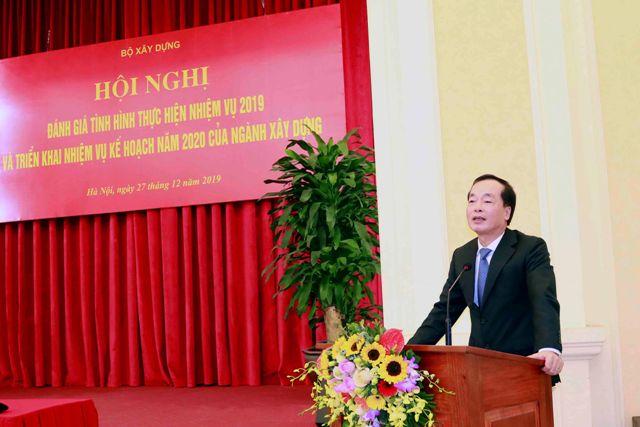 Bộ trưởng Bộ Xây dựng Phạm Hồng Hà phát biểu tại Hội nghị