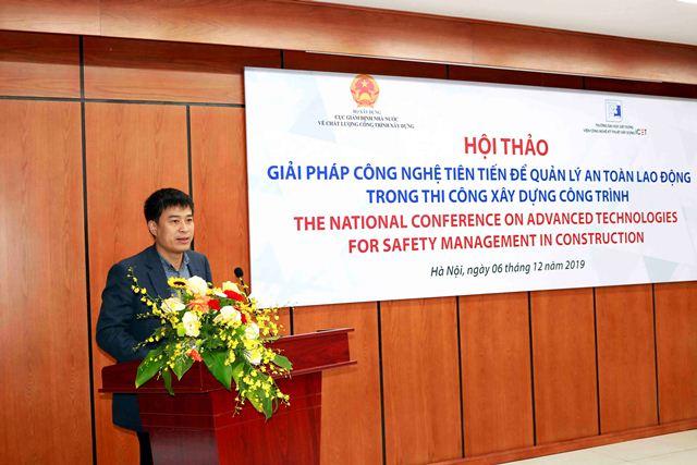 Cục trưởng Giám định nhà nước về chất lượng công trình xây dựng Phạm Minh Hà phát biểu khai mạc Hội thảo