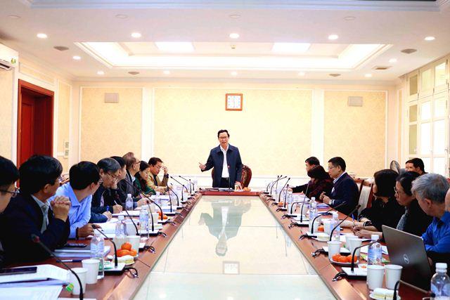 Thứ trưởng Nguyễn Đình Toàn chủ trì cuộc họp
