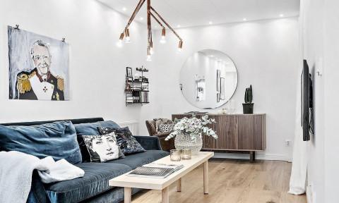 Căn hộ 39m² cực sang chảnh nhờ sử dụng chất liệu nhung cho đồ nội thất