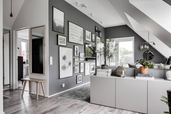 Sắc màu xám bàng bạc làm tông màu chủ đạo cho căn hộ cực đẹp mắt