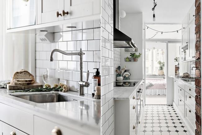 Nhà bếp nhỏ nhưng được sắp xếp gọn gàng, ngăn nắp cực khoa học