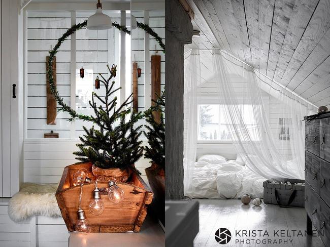 Trang trí cây thông Noel ấn tượng trong nhà