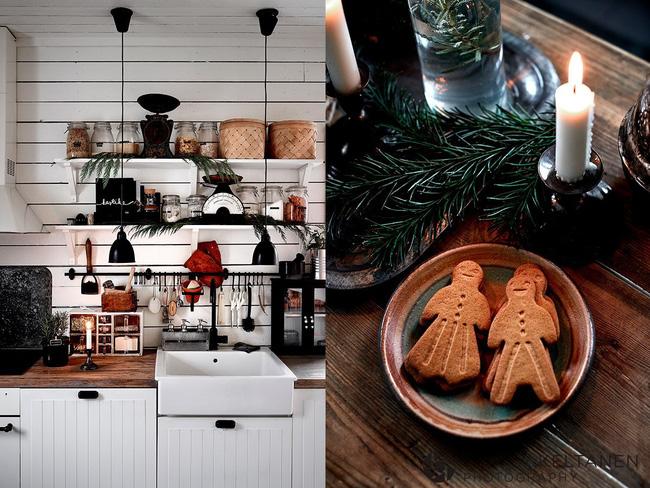 Trang trí Noel trong nhà bếp