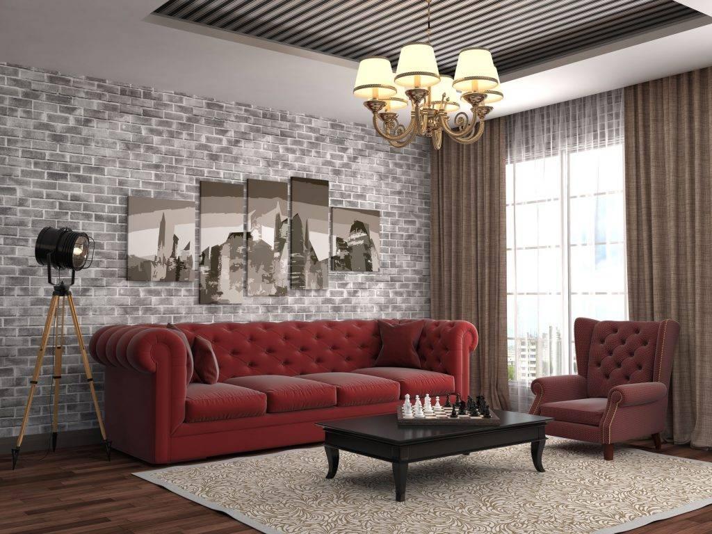 Giấy dán tường giả gạch được nhiều gia chủ áp dụng cho căn hộ chung cư
