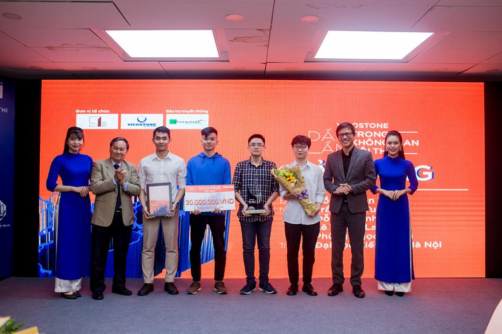 """5 Đồ án """"Hồn đá hồn làng"""" đã đồng thời giành được giải Bình chọn – được cộng đồng mạng yêu thích nhất và giải thưởng cao nhất của cuộc thi – giải Vàng."""