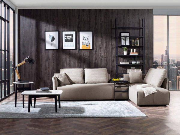 Hai chiếc ghế sofa có thể tách ra hoặc đặt cạnh nhau để tạo thành chỗ nghỉ tạm ấm cúng