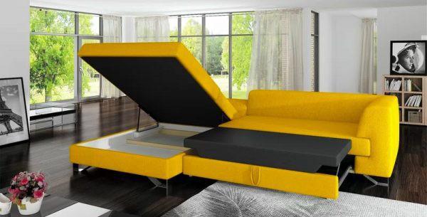 Ghế sofa và giường ngủ có màu sắc nổi bật
