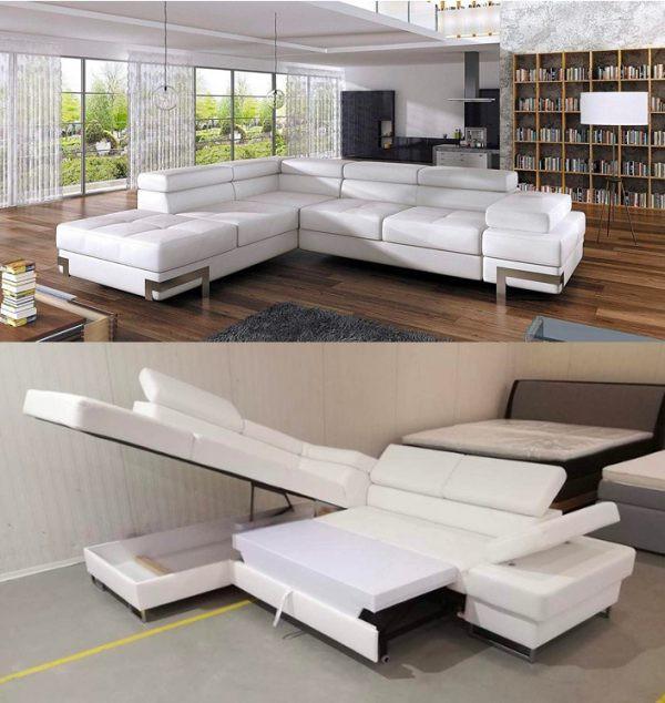 Ghế sofa thông minh, nhanh chóng trở thành giường ngủ chỉ bằng một vài thao tác đơn giản