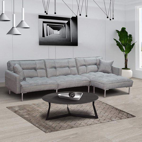 Màu sắc sang trọng cùng lớp đệm dày, có thể co giãn theo vóc dáng người ngồi đã biến chiếc ghế sofa này trở thành sản phẩm được nhiều gia đình lựa chọn