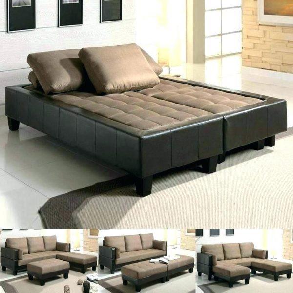 Sự biến đổi linh hoạt giữa bộ bàn ghế tiếp khách và giường ngủ