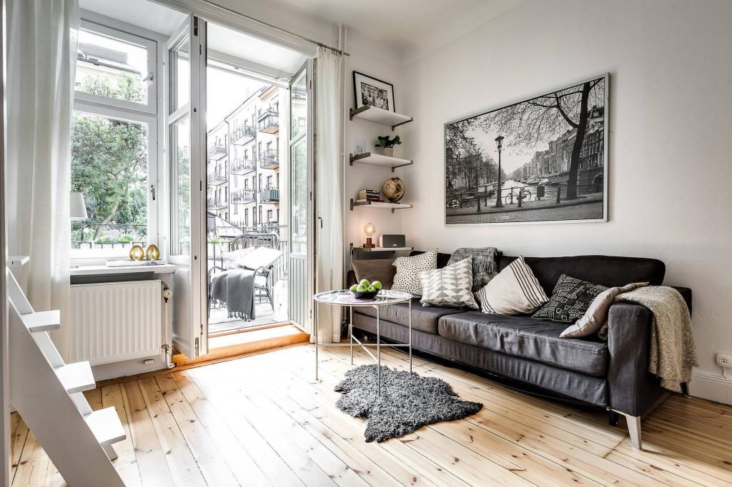 Phòng khách với góc nhỏ vừa lưu trữ vừa trang trí nhẹ nhàng, ấn tượng