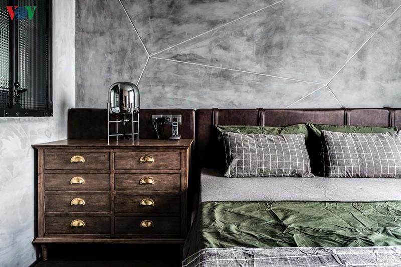Tủ đầu giường cá tính với chất gỗ thô mộc