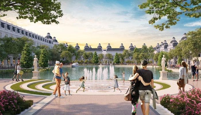 Phối cảnh Công viên hồ Mắt Rồng trong lòng dự án Danko City Thái Nguyên