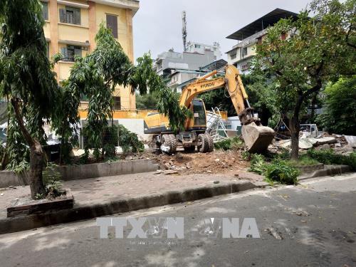 Sau 1 năm thực hiện thí điểm, các Đội Quản lý trật tự xây dựng đô thị ở Hà Nội đang dần chứng minh được vai trò nòng cốt của mình. Ảnh minh họa: TTXVN
