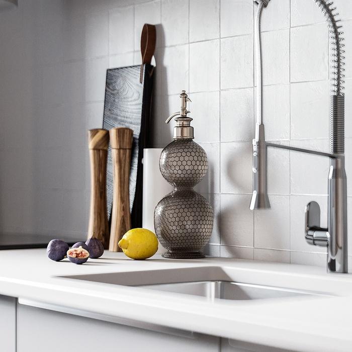 Từng chi tiết trong phòng bếp đều toát lên vẻ đẹp tinh tế, hiện đại