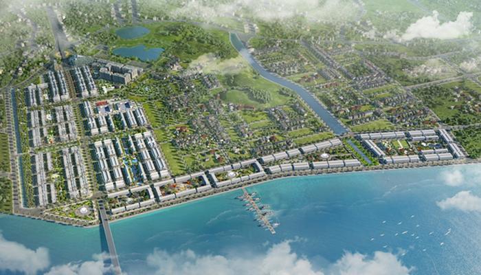 FLC Tropical City Ha Long có vị trí phong thủy đắc địa lưng tựa núi, mặt hướng biển