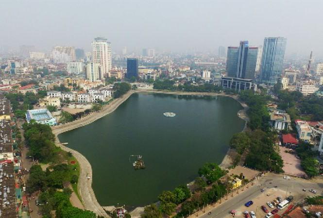 Hồ Thành Công vừa bị đề xuất lấp để xây chung cư. Ảnh: Internet