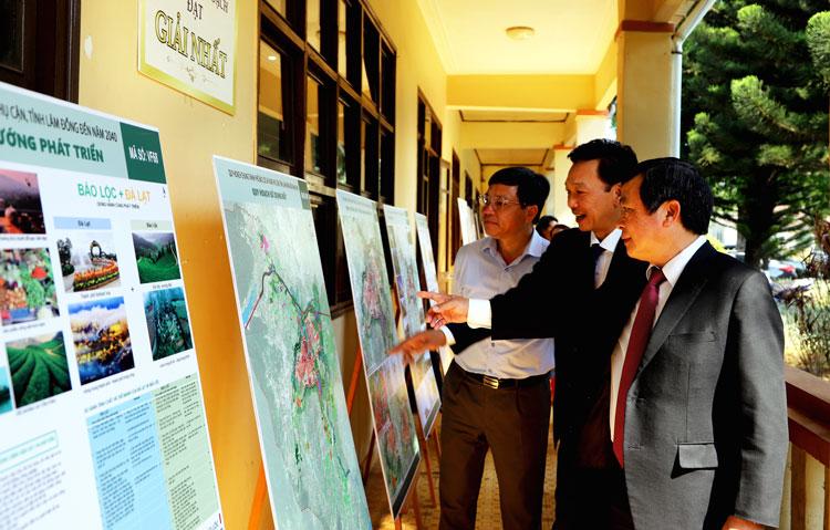 Lãnh đạo tỉnh Lâm Đồng và TP Bảo Lộc tham quan ý tưởng quy hoạch đạt giải Nhất