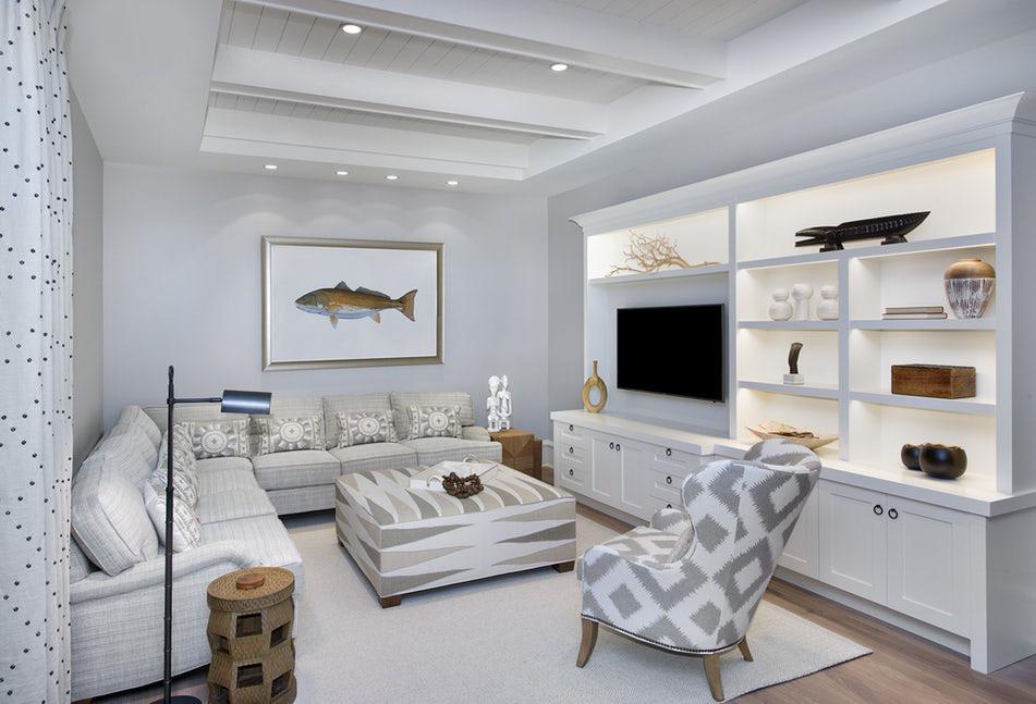 Chỉ cần lựa chọn một loại họa tiết đơn giản thôi cũng đủ để trở nên nổi bật bên trong căn phòng khách gia đình