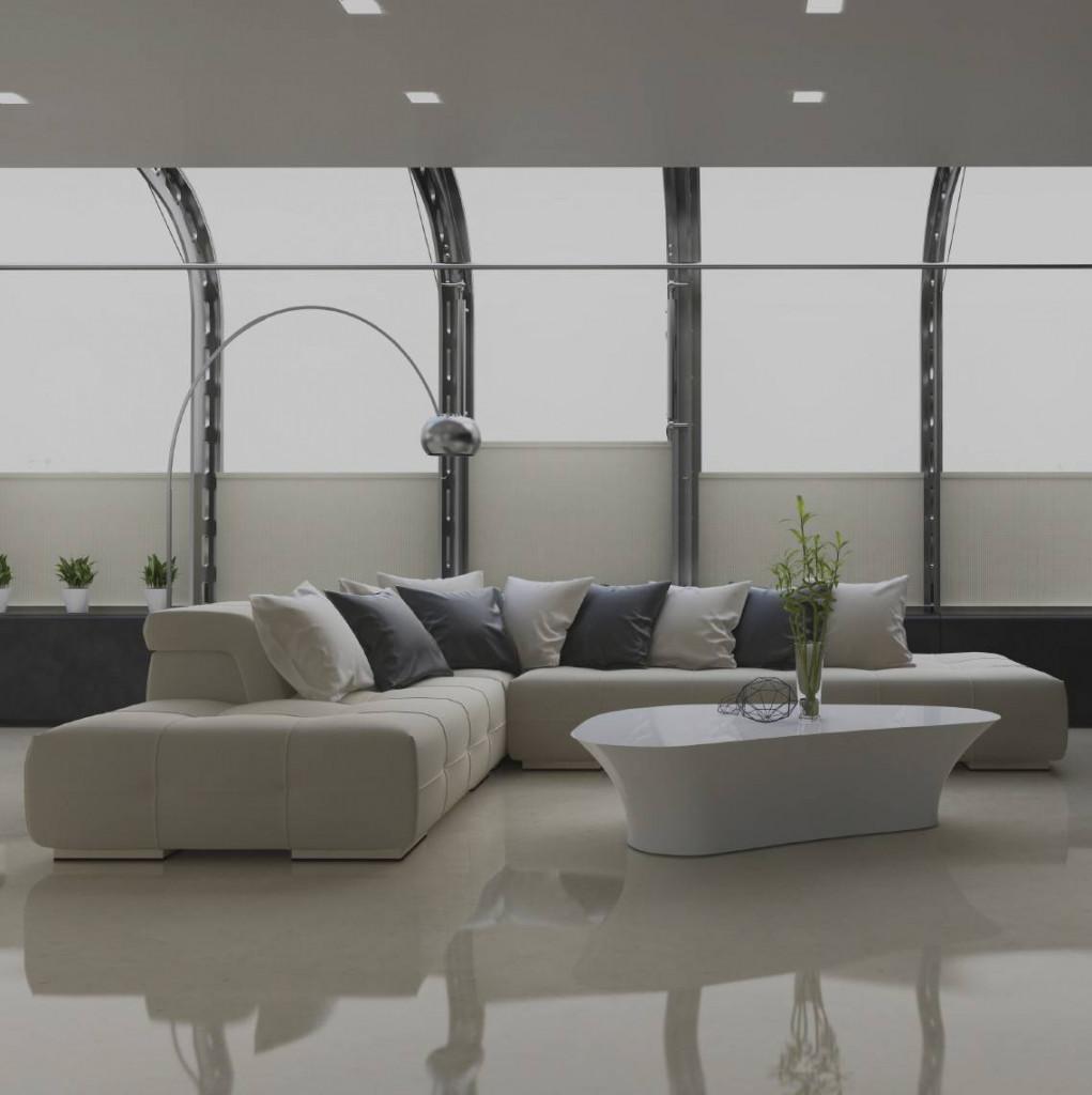 Sàn bê tông mài với bề mặt láng bóng mang lại tính thẩm mỹ cao và khác lạ