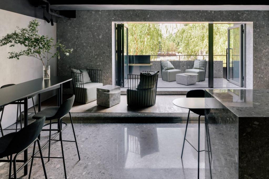 Sàn bê tông mài là một trong những yếu tố thiết kế làm nên phong cách Industrial