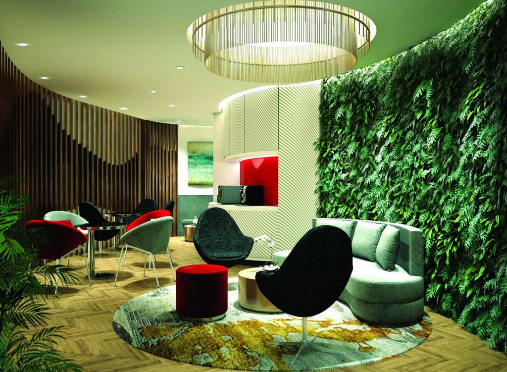 Văn phòng làm việc với lối thiết kế hiện đại mang hơi thở tươi mát của thiên nhiên