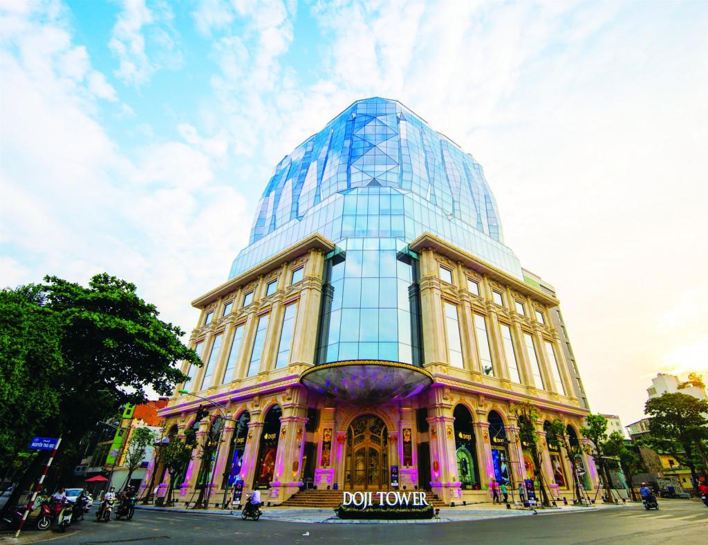 Toà nhà DOJI mang hình viên kim cương toạ lạc tại số 5 Lê Duẩn - Hà Nội