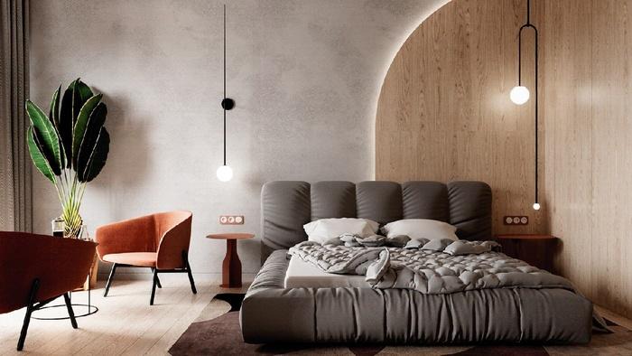 Phòng ngủ hiện đại, đủ ánh sáng với những mẫu đèn treo hình cầu