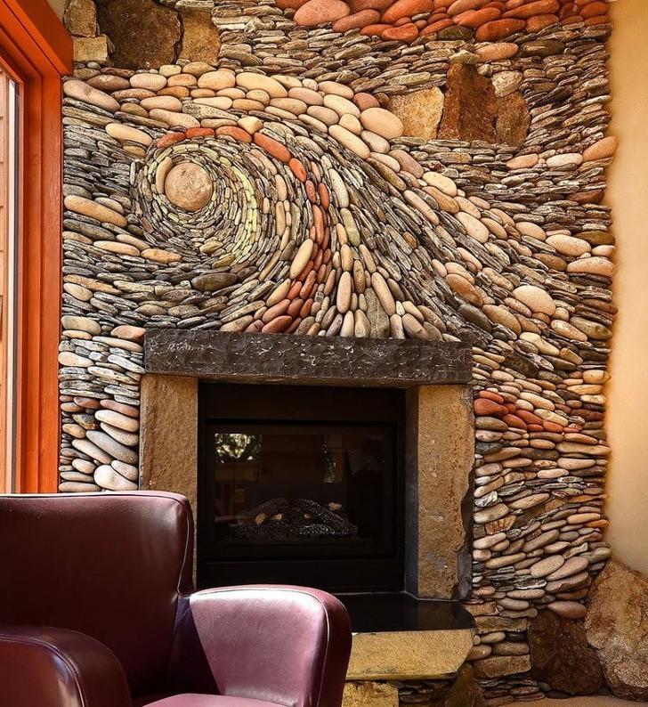 Tranh treo tường sẽ chẳng cần thiết khi bạn có những bức tường như thế này