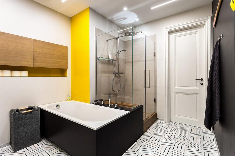 Gạch đơn sắc làm nên một nét đặc trưng của sàn nhà