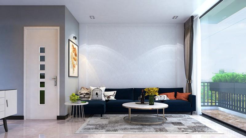 Ngoài chiếc ghế sofa đặt ở giữa nhà, hầu như tất cả các chi tiết trang trí cho đến nội thất đều sở hữu gam màu trắng đẹp mắt