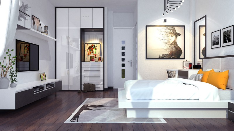 Trắng nghe thì có vẻ xử lý nhưng nếu không có kinh nghiệm thì chắc chắn gia chủ không thể có được một không gian phòng ngủ tuyệt đẹp đến vậy