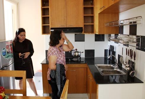 Một dự án căn hộ 25 m2 được xây thí điểm để lấy ý kiến người dân tại TP HCM năm 2017. Ảnh: Vũ Lê